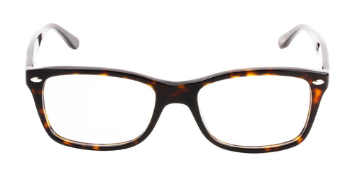 Ray Ban Rx - RX5228 Tortoise Rectangular Women Eyeglasses - 53mm