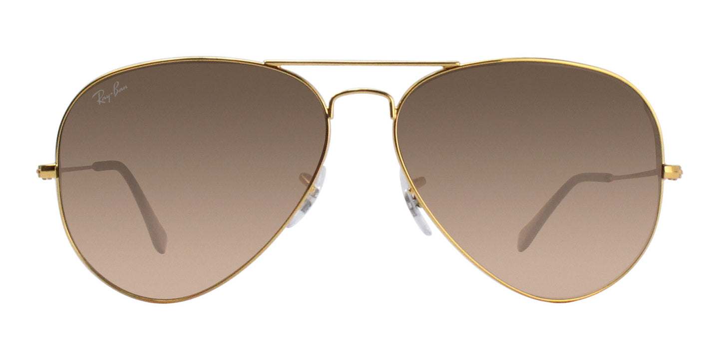 Ray Ban - RB3026 Gold/Brown Gradient Aviator Unisex Sunglasses - 62mm