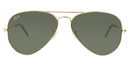 Ray Ban - Aviator Gold/Green Unisex Sunglasses - 58mm