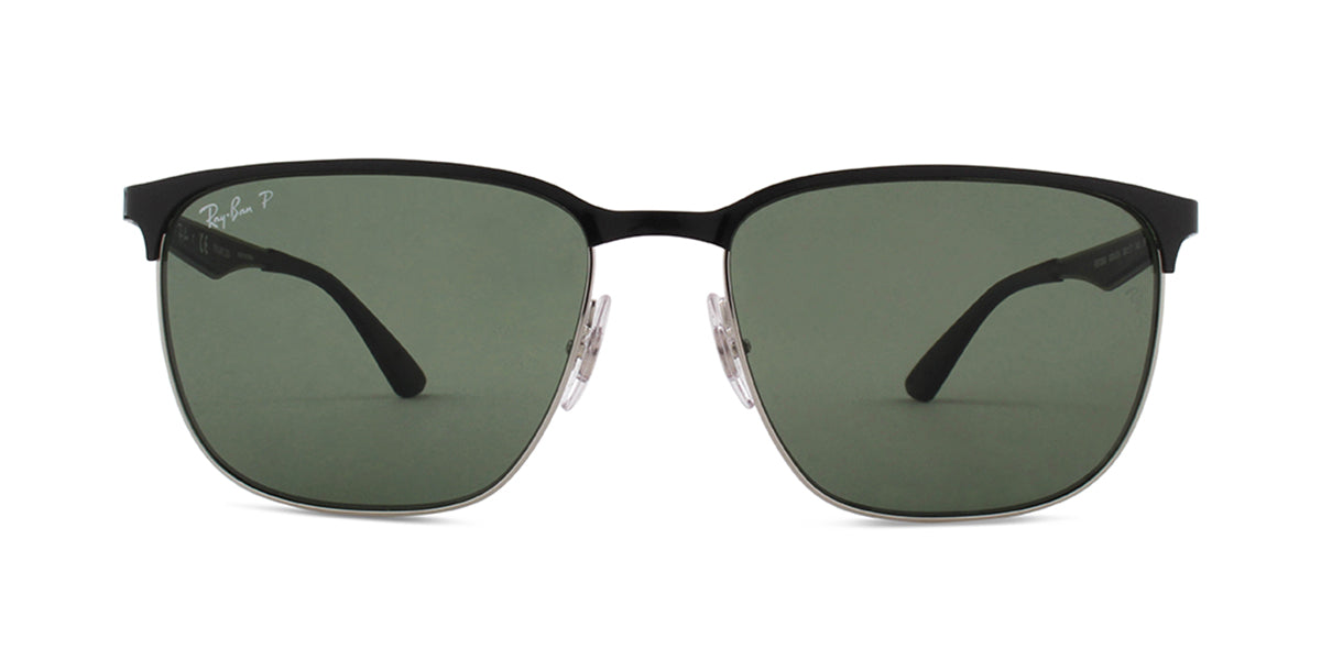 a99f6ea7c2c Ray Ban RB3569 Black   Green Lens Solid Polarized Sunglasses ...
