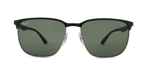 Ray Ban - RB3569 Black Rectangular Unisex Sunglasses - 59mm