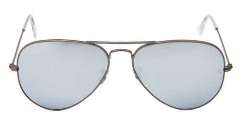 Ray Ban - Aviator Gray/Silver Mirror Unisex Sunglasses - 58mm