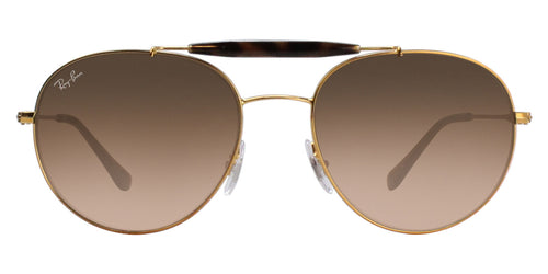 Ray Ban - RB3540 Light Bronze Oval Unisex Sunglasses - 56mm