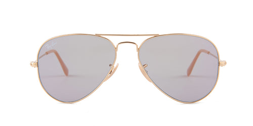 Ray Ban - Aviator Gold/Gray Unisex Sunglasses - 55mm