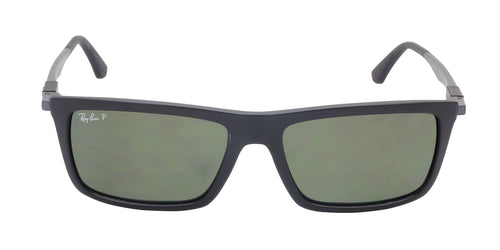 Ray Ban RB4214 Black / Green Lens Polarized Sunglasses