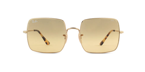 Ray Ban - RB1971 Gold/Brown Gradient Square Unisex Sunglasses - 54mm