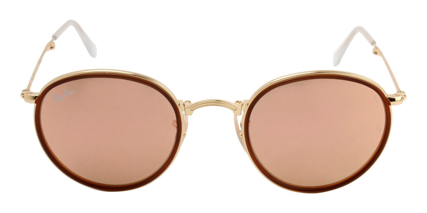 Ray Ban - RB3517 Brown/Pink Mirror Oval Unisex Sunglasses - 48mm