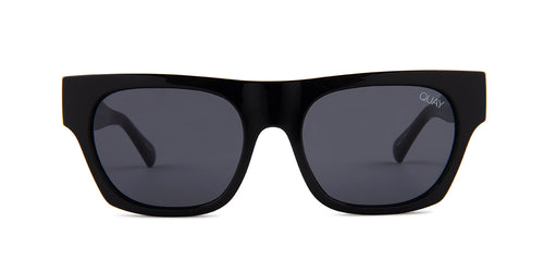 Quay Australia Something Extra Black / Blue Lens Sunglasses