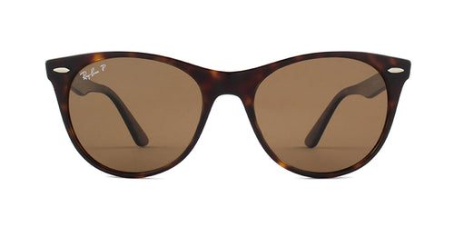 Ray Ban - RB2185 Havana/Brown Polarized Square Unisex Sunglasses - 55mm