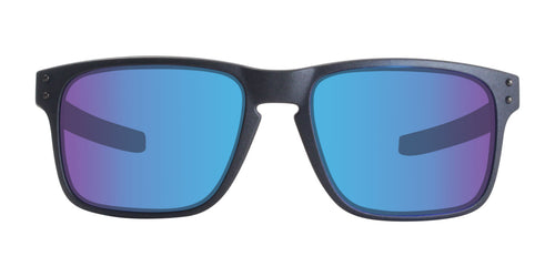 Oakley Holbrook Gray / Blue Lens Mirror Sunglasses