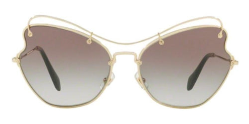 Miu Miu - MU56R Gold Cat-Eye Women Sunglasses - 61mm