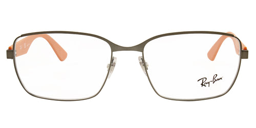 Ray Ban Rx - RX6308 Gray Rectangular Unisex Eyeglasses - 56mm