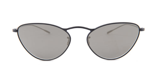 Oliver Peoples Lelaina Black / Gray Lens Mirror Sunglasses