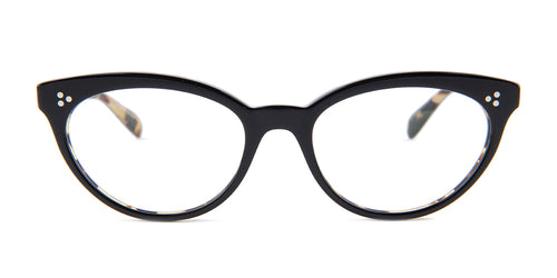 Oliver Peoples Arella Black / Clear Lens Eyeglasses