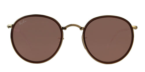 Ray Ban - RB3517 Gold/Brown Mirror Oval Men Sunglasses - 51mm