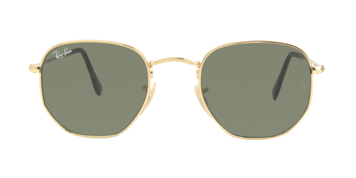 Ray Ban - RB3548N Gold/Green Oval Unisex Sunglasses - 48mm