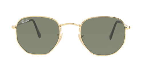 Ray Ban - RB3548-N Gold/Green Oval Unisex Sunglasses - 48mm