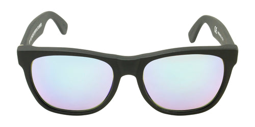 Retrosuperfuture Classic Black / Green Lens Mirror Sunglasses
