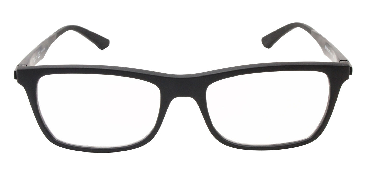 Ray Ban Rx - RX7062 Black Rectangular Unisex Eyeglasses - 55mm