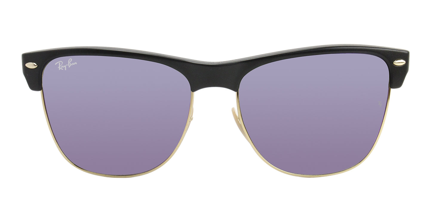 Ray Ban - RB4175 Black/Purple Mirror Rectangular Unisex Sunglasses - 57mm