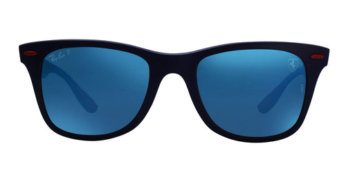 Ray Ban - RB4195M Blue Wayfarer Unisex Sunglasses - 52mm