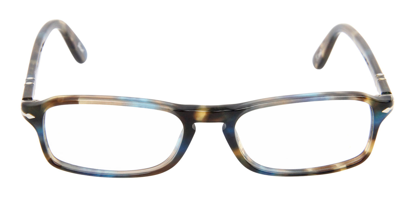 Persol - PO 3035V Brown/Blue Rectangular Unisex Eyeglasses - 51mm