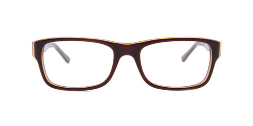 Ray Ban Rx - RX5268 Brown Rectangular Unisex Eyeglasses - 52mm