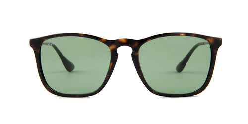 Ray Ban - RB4187 Havana/Green Square Men Sunglasses - 54mm