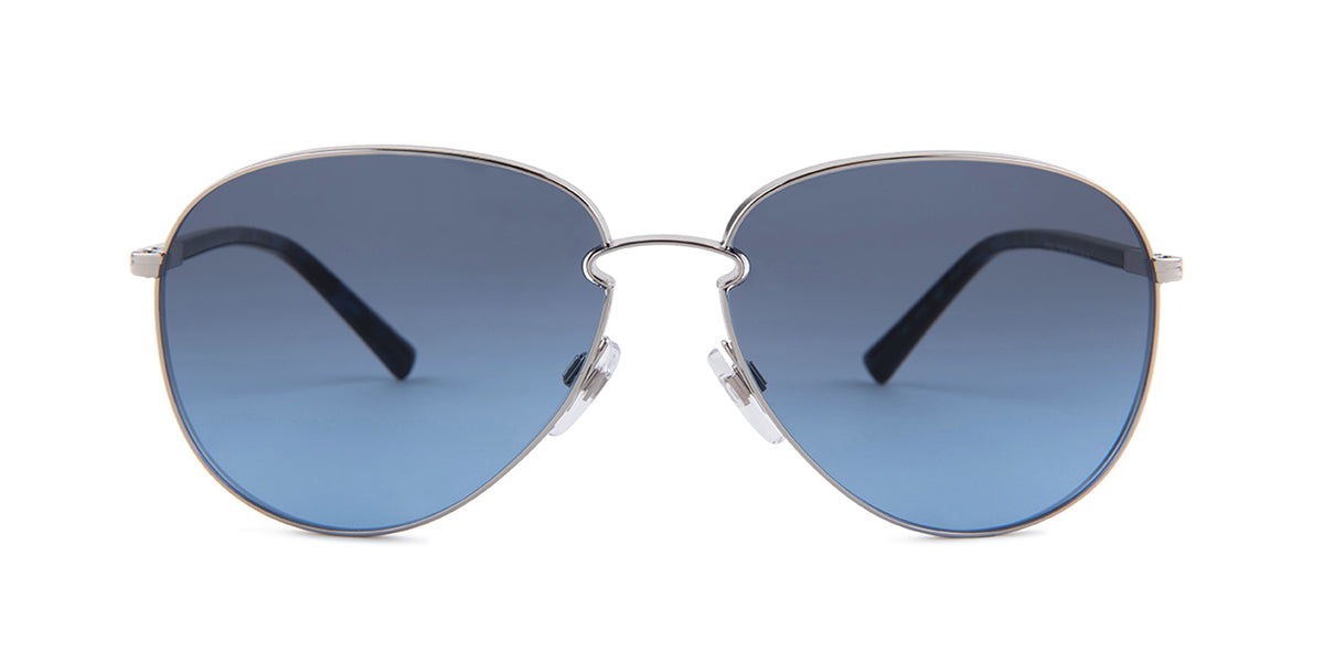 Valentino - VA2021 Silver Aviator Women Sunglasses - 59mm