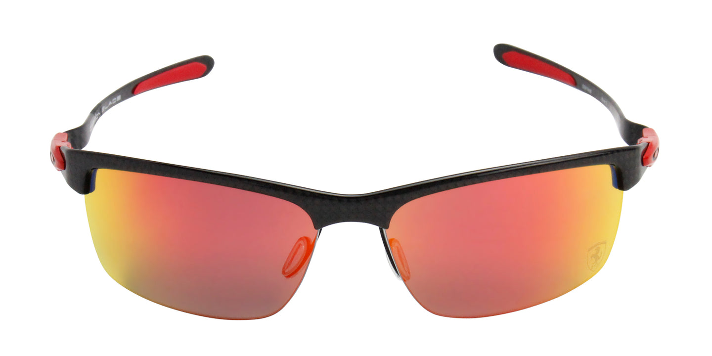 Oakley - Carbon Blade Gray/Red Semi-Rimless Men Sunglasses - 66mm