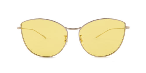 Oliver Peoples Rayette Silver / Yellow Lens Sunglasses
