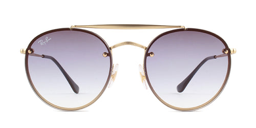 Ray Ban - RB3614N Gold Round Unisex Sunglasses - 54mm