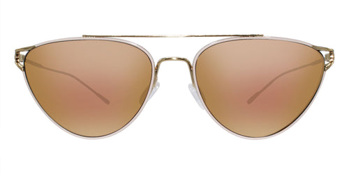 Oliver Peoples Floriana White Gold / Gold Lens Mirror Sunglasses