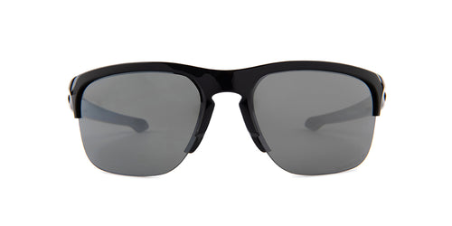 Oakley - Sliver Black/Black Square Unisex Polarized Sunglasses - 65mm