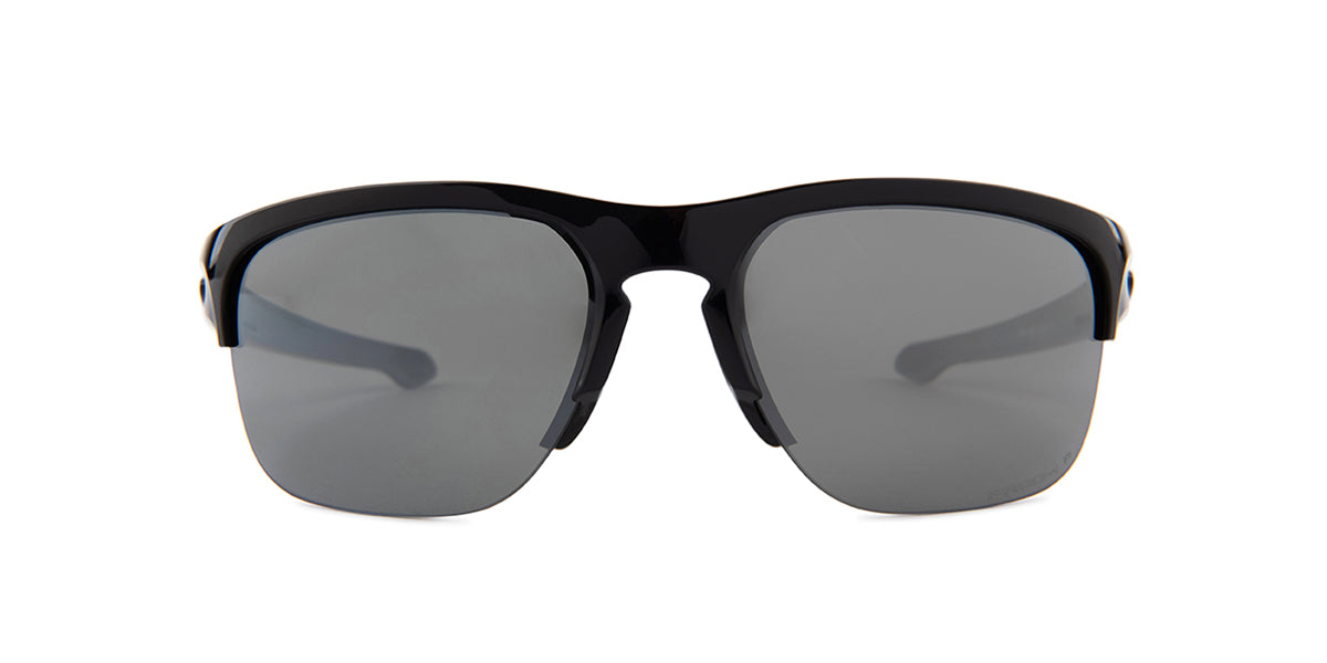 Oakley Sliver Black / Black Lens Mirror Polarized Sunglasses