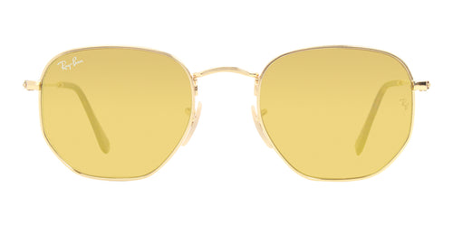 Ray Ban - RB3548N Gold Oval Unisex Sunglasses - 51mm