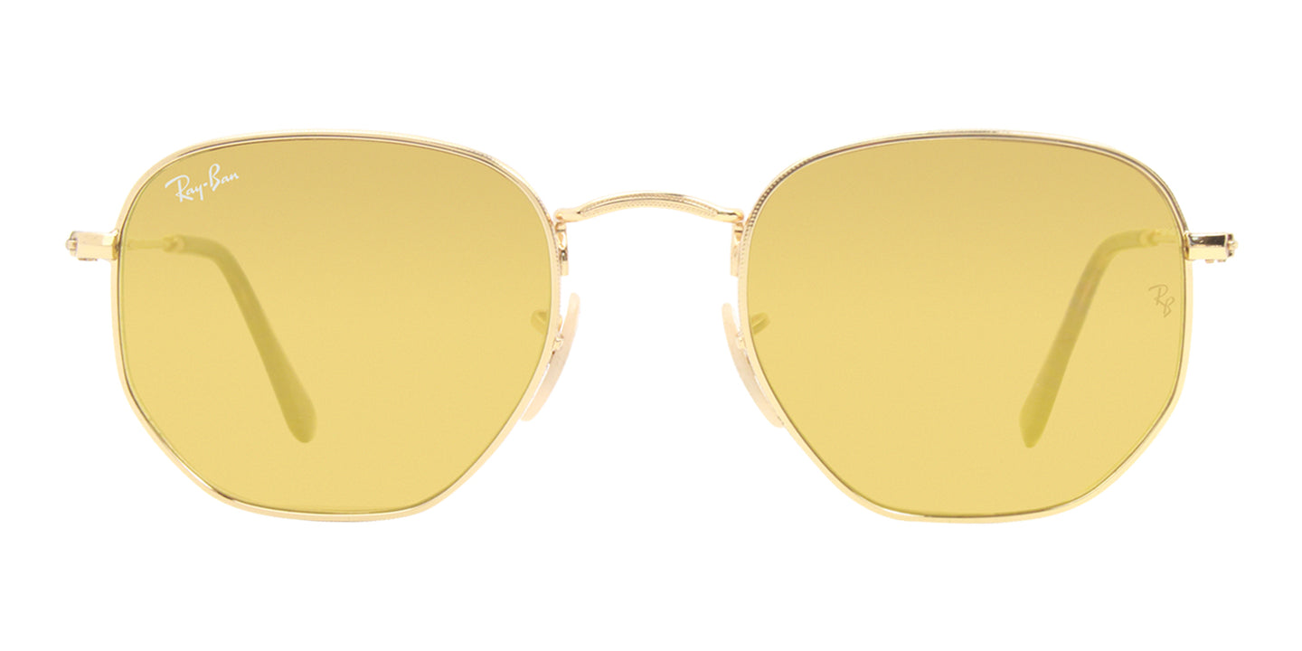 Ray Ban - RB3548N Gold/Gold Mirror Oval Unisex Sunglasses - 51mm