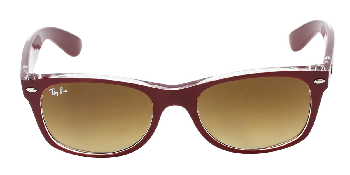 Ray Ban - New Wayfarer Purple/Brown Gradient Unisex Sunglasses - 52mm