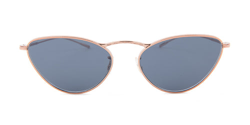 Oliver Peoples Lelaina Rose Gold / Blue Lens Sunglasses