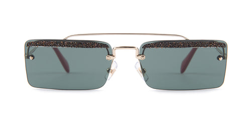 Miu Miu - MU59TS Silver/Gray Rimless Women Sunglasses - 58mm