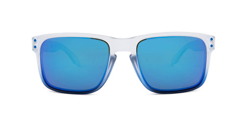 Oakley Holbrook White / Blue Lens Mirror Sunglasses