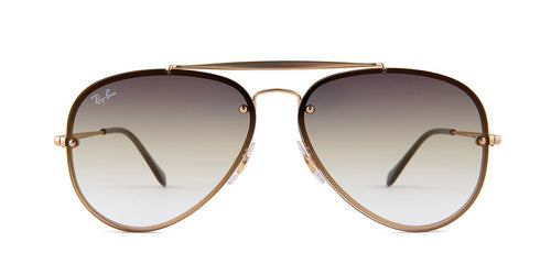 Ray Ban - RB3584N Gold Aviator Unisex Sunglasses - 61mm