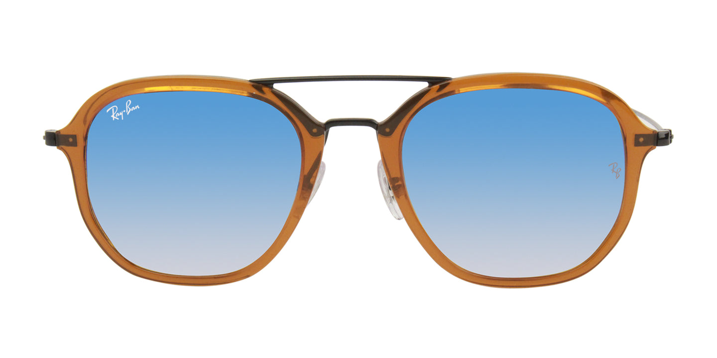 Ray Ban RB4273 Brown / Blue Lens Mirror Sunglasses