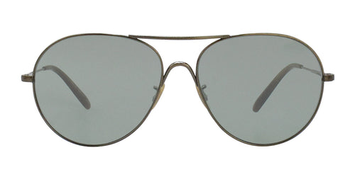 Oliver Peoples Rockmore Gold / Green Lens Sunglasses