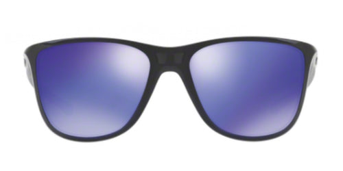 Oakley Reverie Black / Purple Lens Mirror Sunglasses