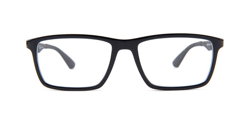 Ray Ban Rx - RB7056 Black Square Unisex Eyeglasses - 55mm