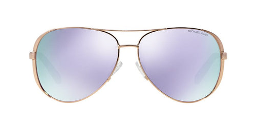 Michael Kors Chelsea Rose Gold / Purple Lens Mirror Sunglasses