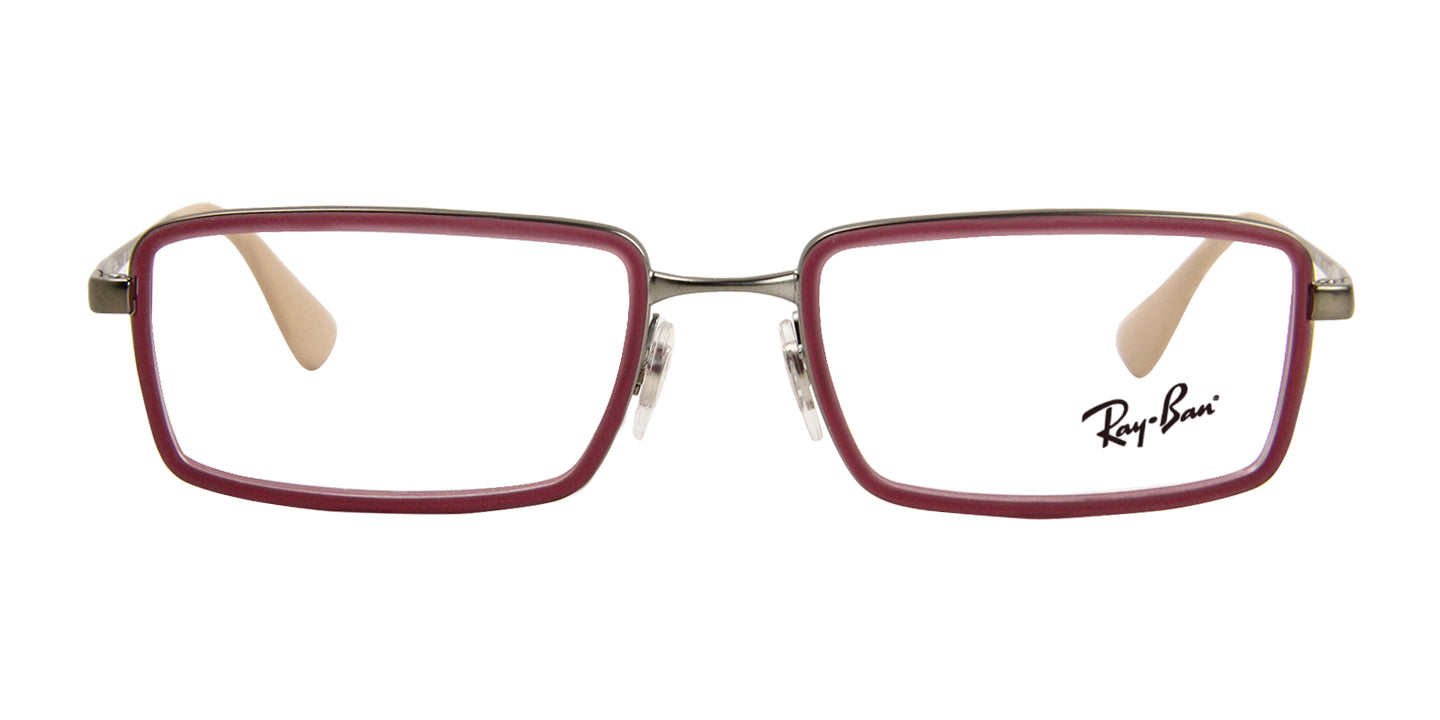 Ray Ban Rx - RX6337 Purple Rectangular Unisex Eyeglasses - 53mm