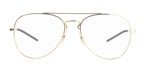 Ray Ban Rx - RX6413 Gold Aviator Unisex Eyeglasses - 56mm
