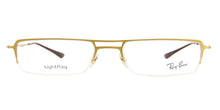 Ray Ban Rx - RX8713 Gold Semi-Rimless Unisex Eyeglasses - 53mm